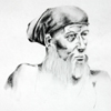 Old Man Sketch in Graphite by Christine Boyce